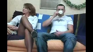 Son fuck mom while she is sleeping