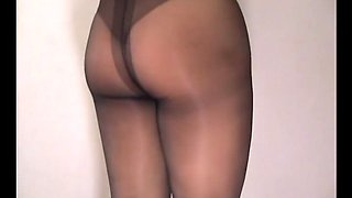 crossdresser pantyhose ass 133