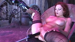 Redhead Loves To Masturbate With Fucking Machines