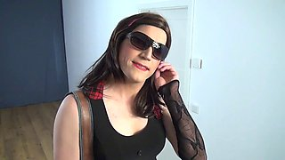 # 01-Crossdresser suck dildo oral cumplay-sissy cd tv cayenne