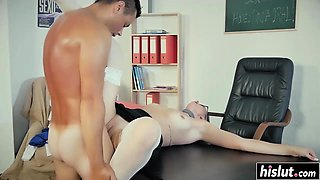 Hot teacher gets fucked in the classroom