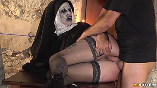 Masked big ass milf bend over lovely when banged hardcore