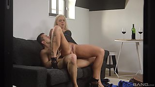 Blonde Jarushka Ross likes a stiff pecker more than anything