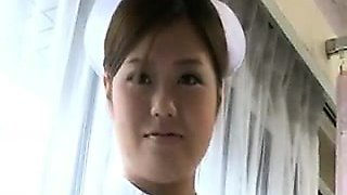 Provocative Japanese nurse sensually exposes her wonderful