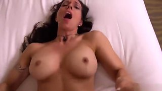 Snazzy busty mature female gets her ass abused
