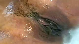 Tattooed oriental nympho Finess Navaro rides strong cock in the bath tub