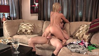Horny MILF Alexis Fawx wants to ride a fellow's big cock