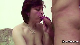 Step-Mom Seduce Young Boy To Fuck When Nothing Home