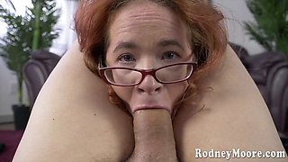Adventurous redhead with glasses loves to fuck hard