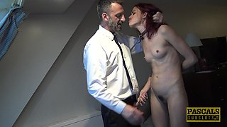 Skinny babe Andy Rye gets her hairy cunt drilled by a friend