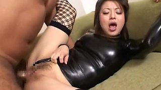 Incredible Japanese chick in Amazing High Heels, Stockings JAV clip