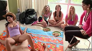 story telling time with bunch of amateur cock sucking teens
