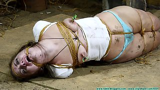 Futilestruggles rachel hogtied with twine part 4