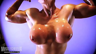 goddess rapture oiled up big tits workout