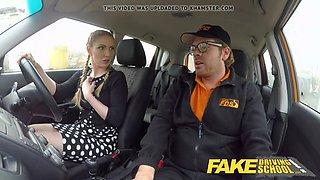 fake driving school busty blonde georgie lyall car sex