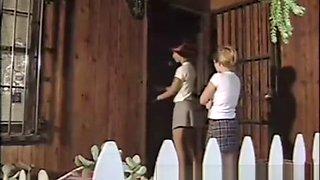 Cute Lesbian School Girls Fuck in White Panties