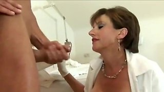 British Nurse Extracts The Spunk