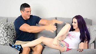 hot feet tickling