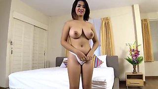 Creampie 4 big natural boobs on Thai girl