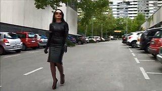 best mom leather mistress smoking heels. see pt2 at goddessheelsonline.co.uk