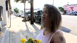 ShagAMidget - Brunette Midget Girl Fucked by Black Guy