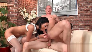 Kinky threesome with two bisexual guys