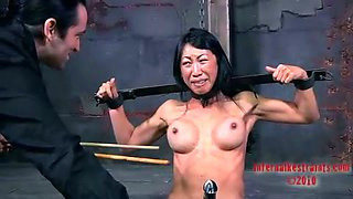 Bounded Asian bitch wants to avoid punishment from her master