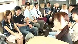Amazing Japanese slut Chihiro Akino in Crazy Handjobs, Bus JAV movie