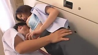 Exotic Japanese whore Maki Asagi in Hottest Secretary, Cougar JAV movie