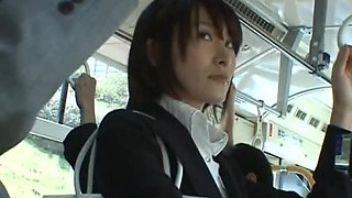 Touching a Sexy Asian's Butt in The Bus