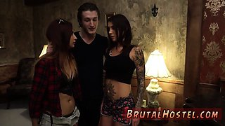 Double crossed bondage Excited young tourists Felicity Feline and Jade Jantzen are