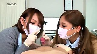 Kinky Japanese girls in uniform feed their hunger for cock