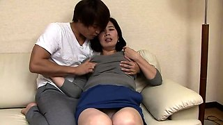 Horny Oriental lady has a young man fulfilling her desires
