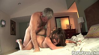 Old Man Fucks Missy Stone After Seeing Her Take A Bath