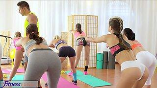 FitnessRooms Teens fuck gym teachers big cock