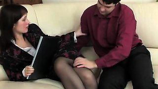 Boy masturbate to his female boss PT1- More On HDMilfCam.com