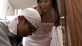 A Naked Japanese Housewife In A Bath Towel 1-3