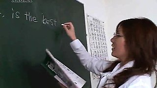 Japanese maid and teacher get fucked like the sluts they are