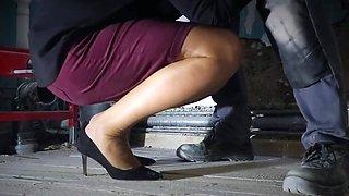 Milf hard rough sex on stockings legs and feet