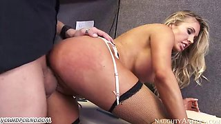 Secretary licking wet pussy of his boss in the office