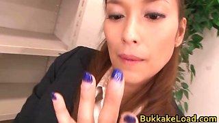Aya is a cum loving Asian slut