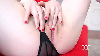 pretty busty english vixen carly rae gets off in hot masturbation solo