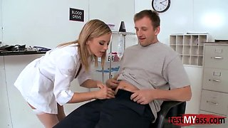 Big tits doctor anal and cumshot