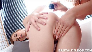 Teens Alexis Crystal and Cayla Lions fuck thick sex toys