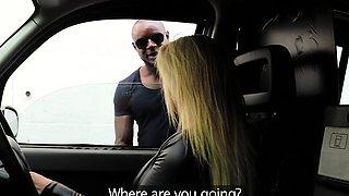 Female Fake Taxi Big black cock makes cabbie cum