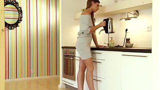 Morgan gets sex in kitchen